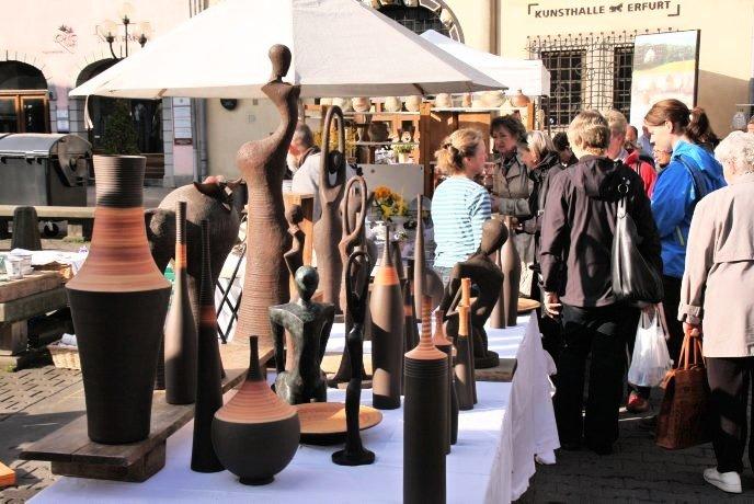 27. Erfurter Töpfermarkt @ Wenigemarkt bis Rathausarkaden und Kreuzsand | Erfurt | Thüringen | Deutschland